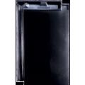 Черепица Domino черная глазурь