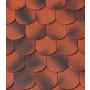 Черепица Biber Klassik красная обоженная ангоба фото