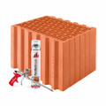 Блок керамический  Porotherm 38 Dryfix