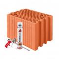 Блок керамический  Porotherm 25 Dryfix